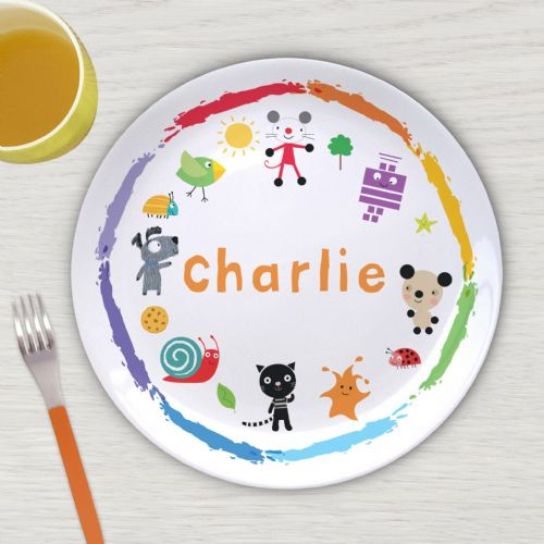 Personalised Arty Mouse Scatter Character Plate